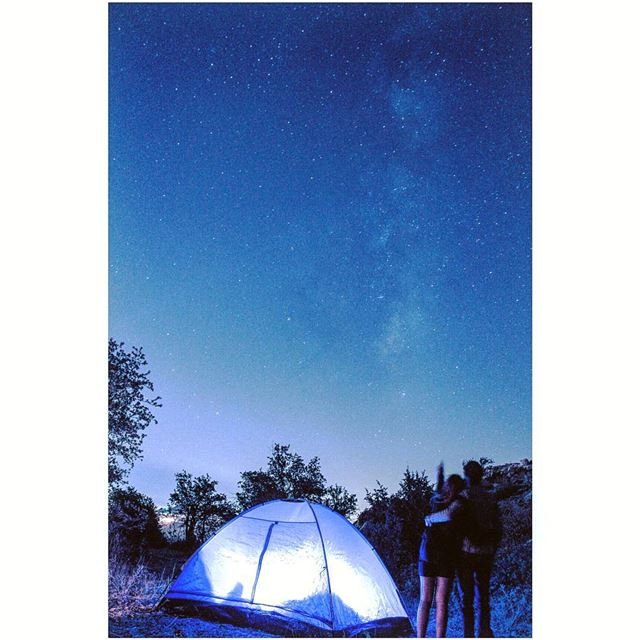 Look at the stars, look how they shine for us 🍃P.S.: Can you spot the... (Falougha, Mont-Liban, Lebanon)