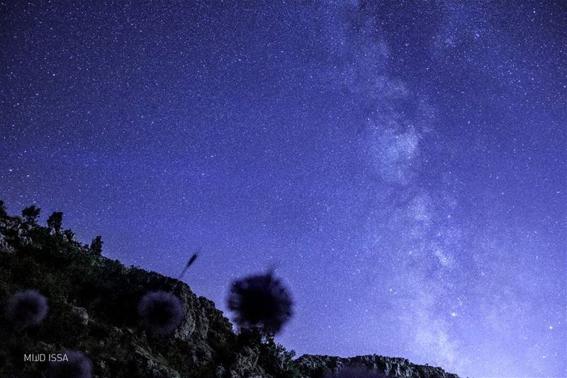 Boiling...  milkyway  lightbounce  light  sky  stars  nightmode ... (Jaj, Mont-Liban, Lebanon)