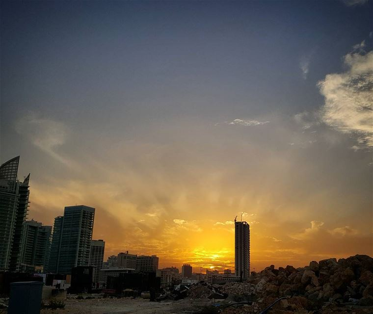 Sunset is not when darkness starts .It's the color palette to paint our... (Beirut, Lebanon)
