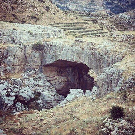Just before  sunrise 🌄 natural  bridge  kfardebian  hike  mounains ... (Kfardebian,Mount Lebanon,Lebanon)