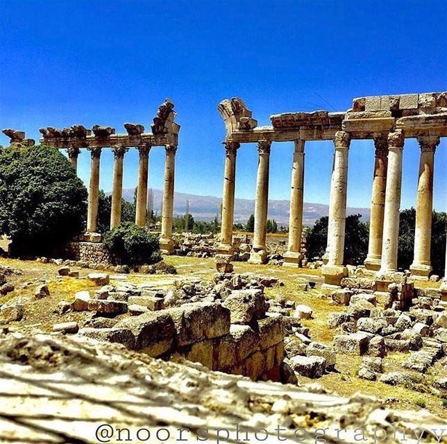 Everyday is a second chance 💙by @noorsphotographyy Baalbeck Temples... (Baalbek , Roman Temple , Lebanon)
