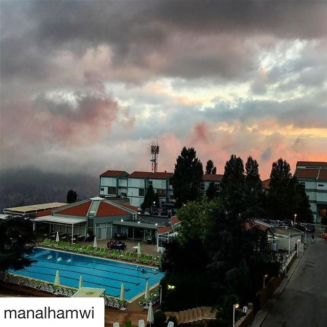 Repost @manalhamwi (@get_repost)・・・ sunset from my balcony  now  ehden ... (Ehden Country Club)