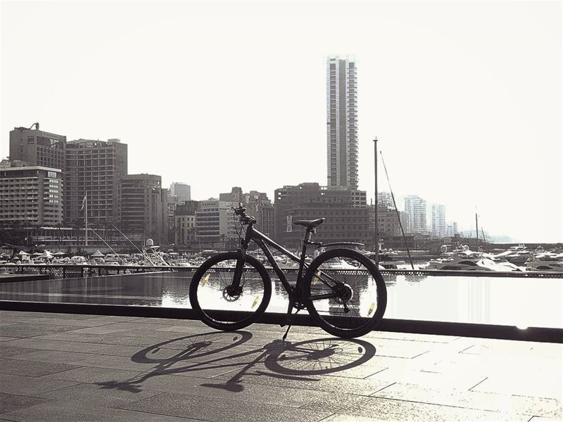 The Winning Trio.. beirut mybike myself 📸.................. (Zaitunay Bay)