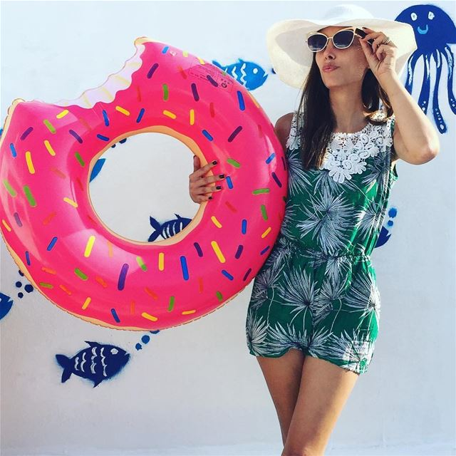 The best  season of all 👒☀️  summertime  summer  beachlife  donutfloat 🍩... (Ta7t El Ri7 - Anfeh)