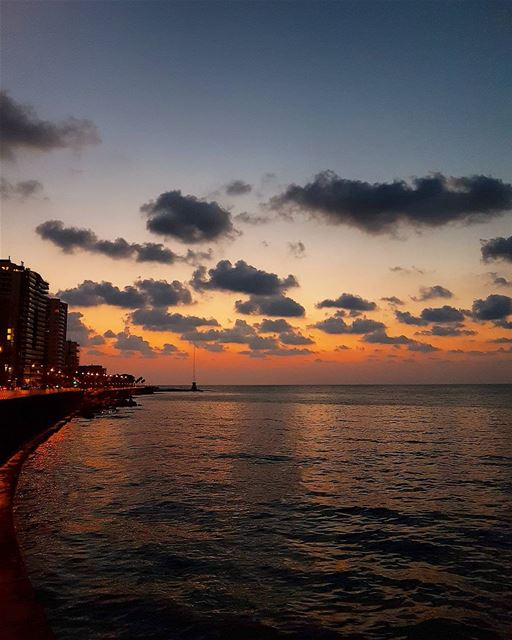 ... The clouds, the sea and the sun,At the end of the day having fun 🌅🌆... (Beirut, Lebanon)