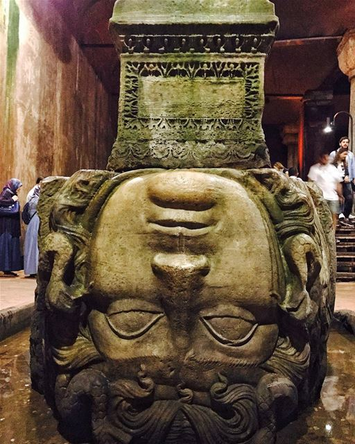 Finally found MedusaBasilica Cistern is a must when you visit Istanbul,... (Basilica Cistern)