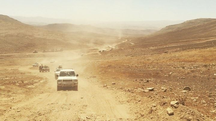 Driving up to the Lebanese Army's front line with Isis in the mountain... (Beqaa Governorate)