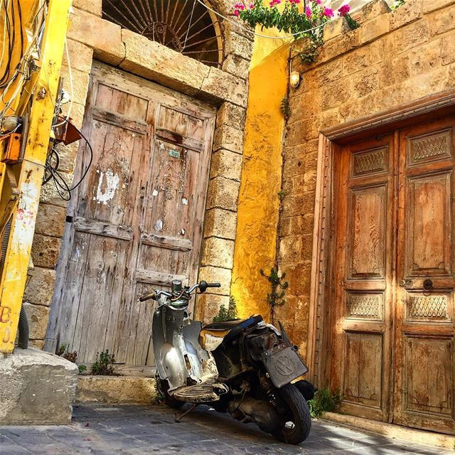 Tyre motorcycle diaries 2  motorcycle  motorcyclediaries  door ... (Tyre, Lebanon)