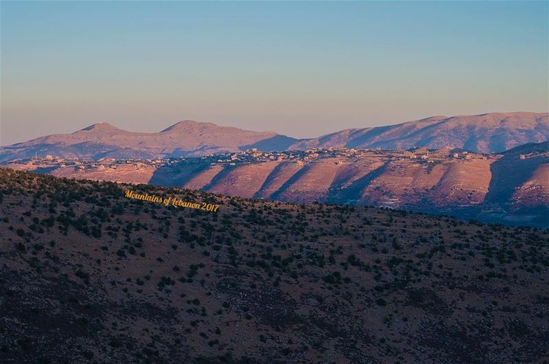 The first morning rays gently caressing the double hills twins of Niha... (Ain Harcha)
