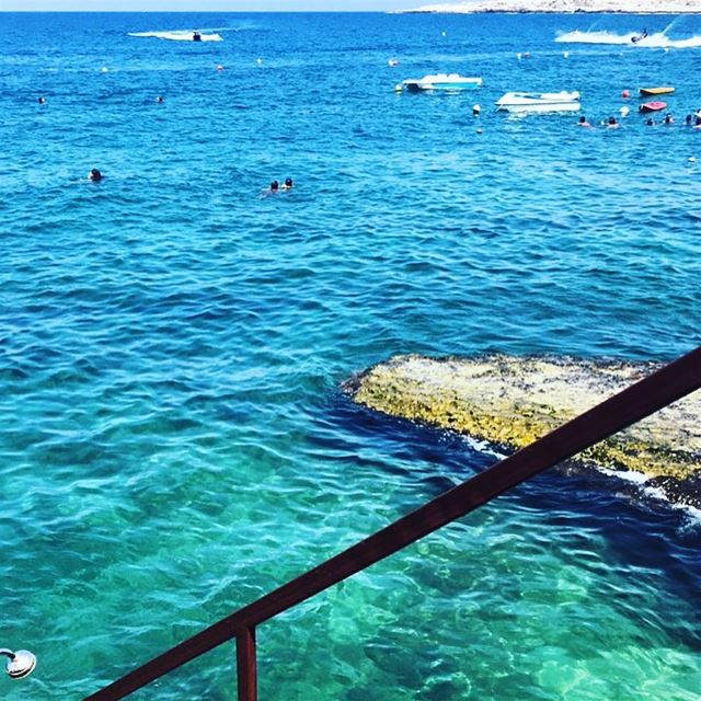 Lebanon's Santorini 🇱🇧. enfeh  lazy  beach  sea  pool  grass  feet ... (Wassim 3al Ba7er)