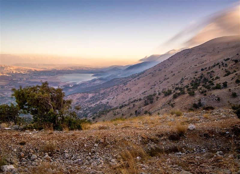 Bekaa Valley, Lake Karouun and mount Barouk all one one photo. How... (Arz el Bâroûk)