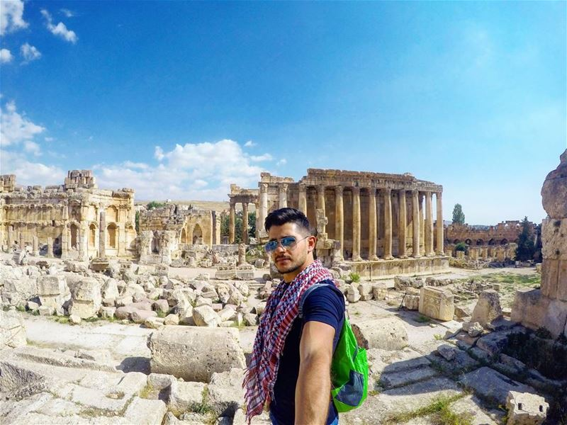 One day ........ Lebanon  Baalbek  Roman  ancient  temple  of ... (Baalbek , Roman Temple , Lebanon)