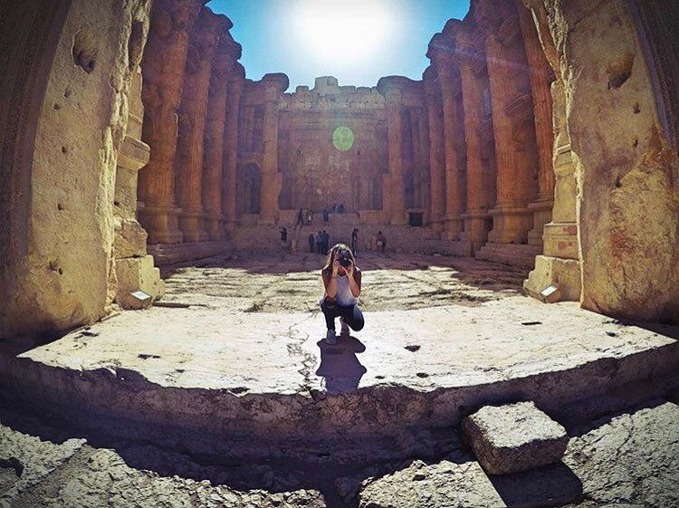 When life gets blurry adjust your focus🤙📸 by @lynn_elkhoury Baalbeck... (Temple of Bacchus)