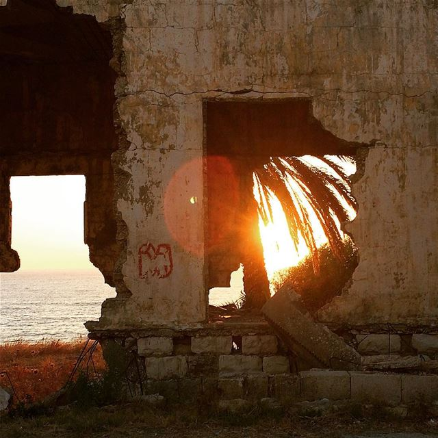 Paradise has been corrupted  Lebanon  sunset  ruins ...