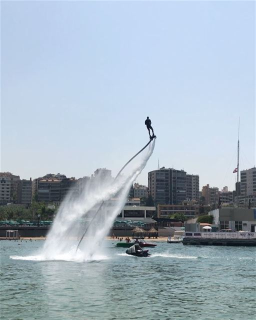 The show must go on @atcl  aboutyesterday  flyboard  flyboardlebanon ... (ATCL)