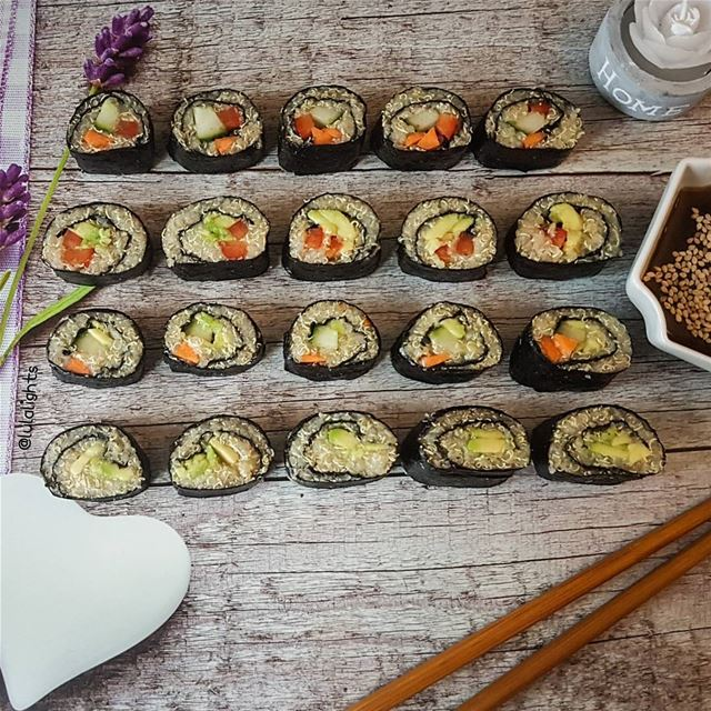 🌱Home Made Vegan Sushi 😋🌱 Sooo i wanted to try these quinoa Sushi for... (Germany)