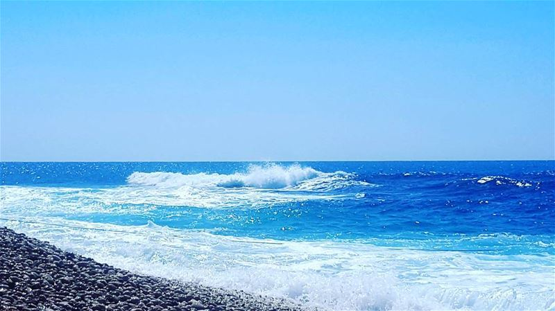 Beautifull blue  summerfun  livelovelife  livelovelebanon❤️  beachlovers ... (Seascape Batroun)