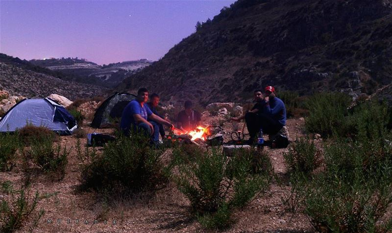 •cold air..dark night..warm fire..bright stars• campinglebanon  camping ... (Qana, Lebanon)