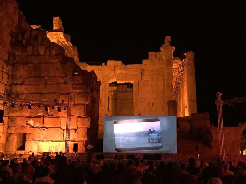 Now there is Cinema in Baalbeck 😍Live from Bacchus Temple the Second Day... (Baalbeck International Festival)