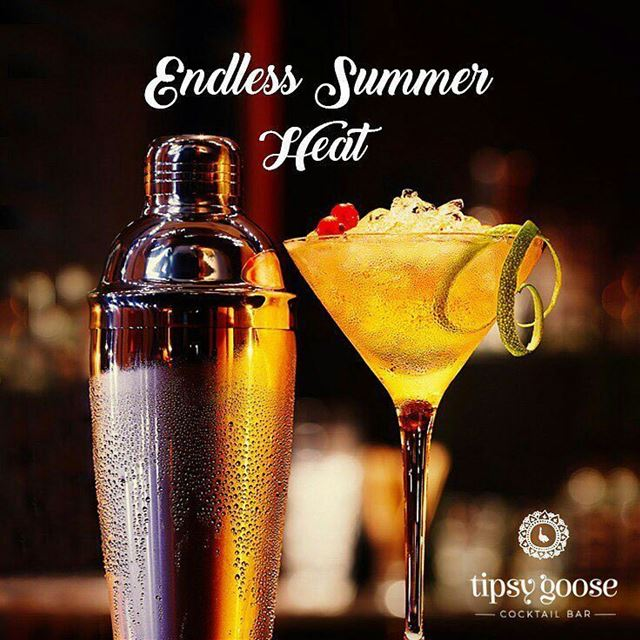 @Regrann from @tipsygooselb -  Break the heat of this endless summer... (Tipsy Goose Cocktail Bar)