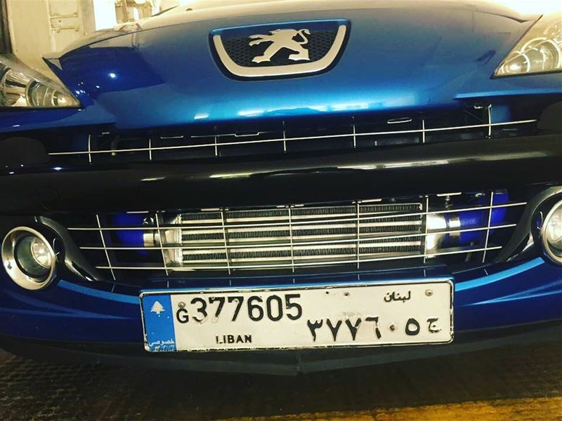 That intercooler.  idriveicare  psl  lebanon  loveit  blue  207  RC  sport...