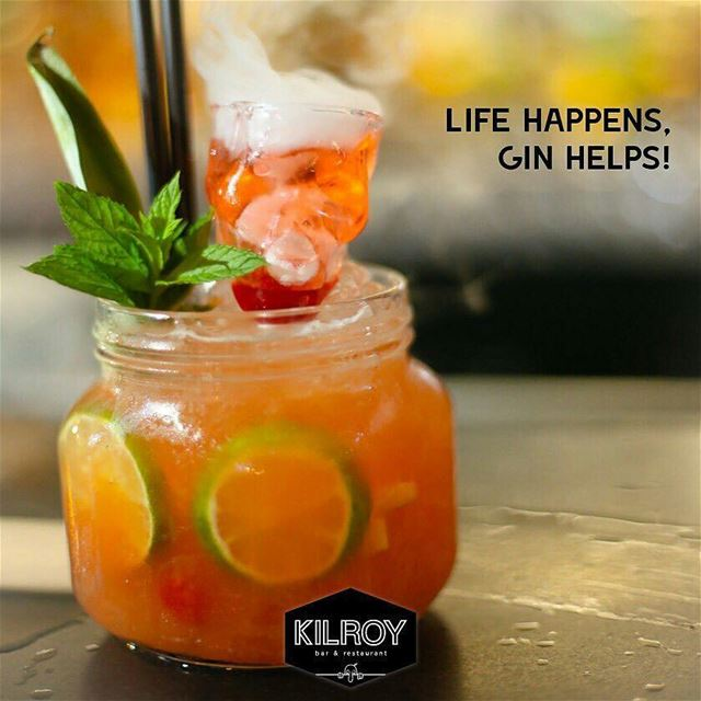 @Regrann from @kilroybar -  Life Happens, Gin Helps!For resv 76 332 111... (Kilroy)