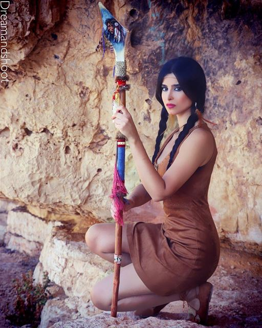 POCAHONTAS 🔥NEW PHOTOSHOOT BY @adham_mayas @sylamc  disneyworld ... (Niha Fortress - قلعة نيحا)