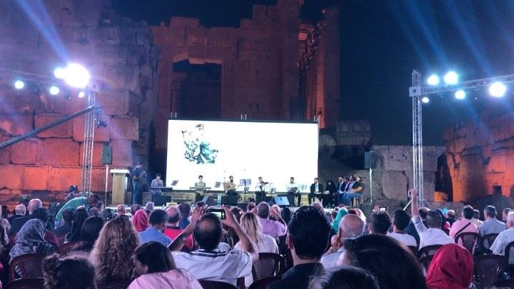 Happening now, Second Annual Khalil Moutran Festival for Poetry at... (Baalbeck International Festival)