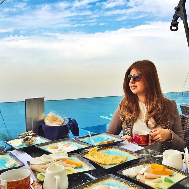 Breakfast is served 🌞 GoodMorning  BeautifulLebanon  BreakfastWithAView� (The Terrace - Restaurant & Bar Lounge)