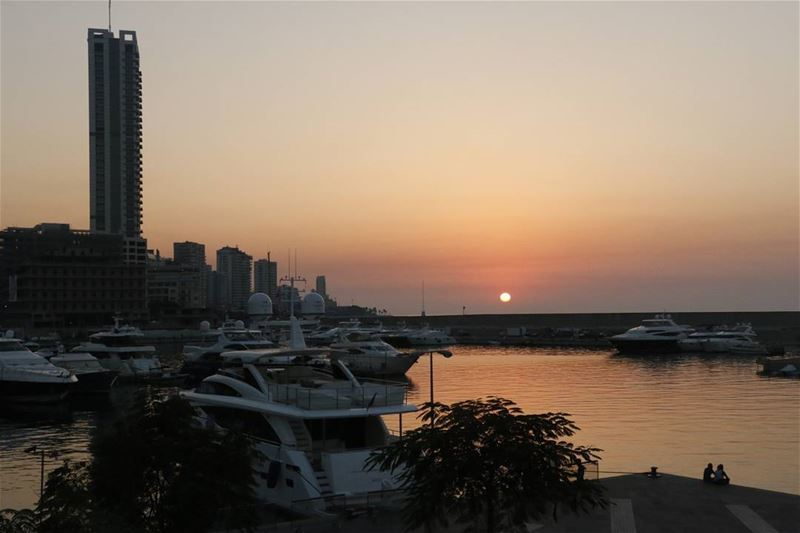 Marina sunset... sunset  sunsetstagram  sunsetlovers  colors  lebanese ... (Zaitunay Bay)