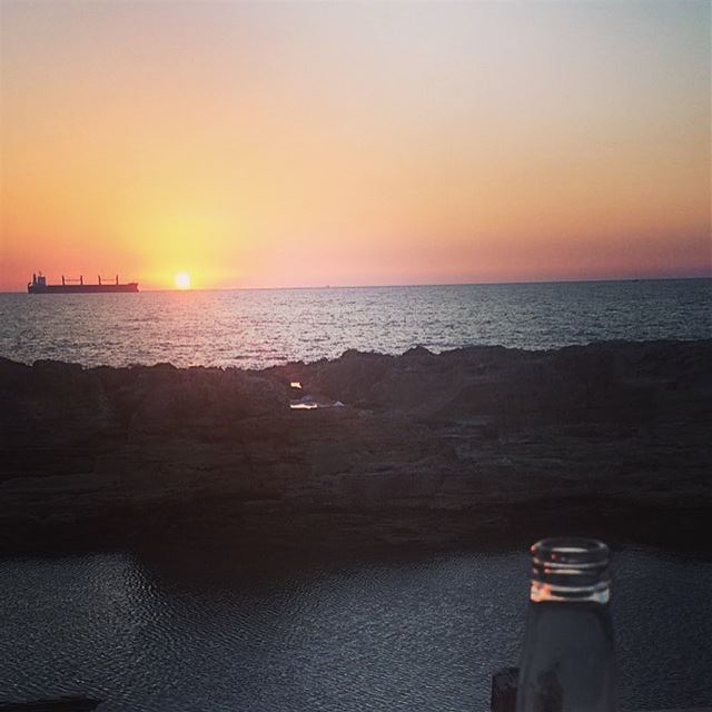 Yeah, I could live with this  beer o'clock.  sunset in  Batroun  Lebanon ... (Batroûn)