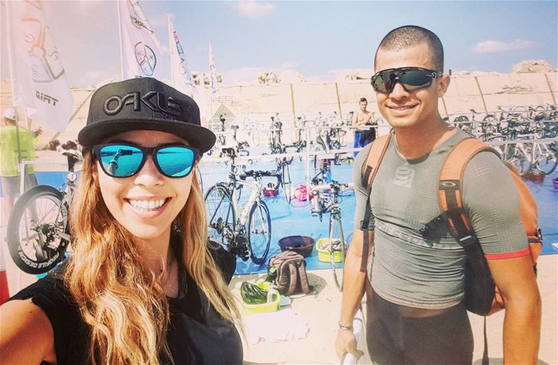 At Naquoura Triathlon with this handsome @ramy.nachar ❤🏆............ (الناقورة / Al Naqoura)