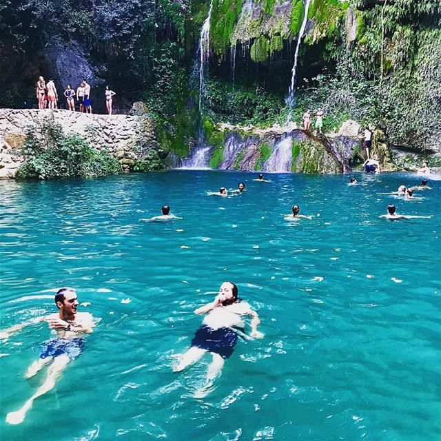 Swimming in the mountains  waterfall  baakline ...