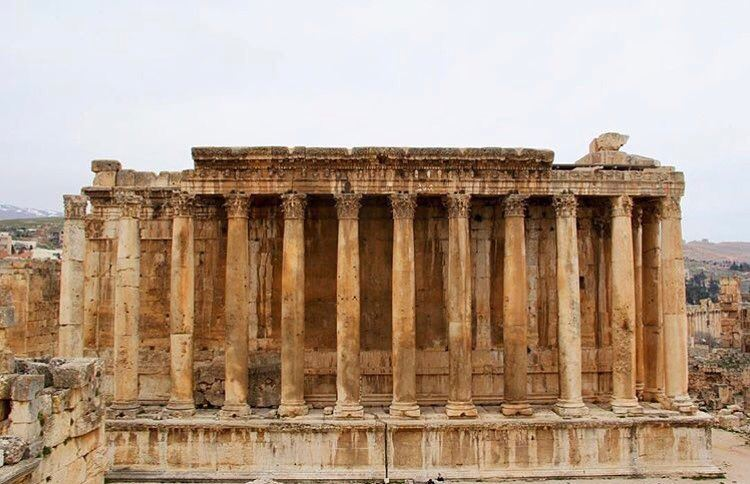 🏛by @iyadbakry  Baalbeck Temples Castle Proud International Festival... (Temple of Bacchus)