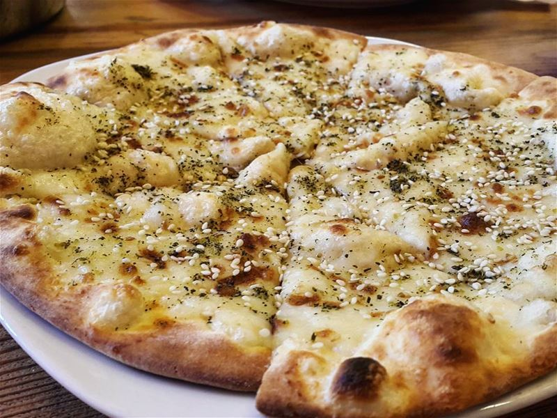 You just can't say no to a cheese and zaatar mankoushe🧀🍃😋  jGrove ...