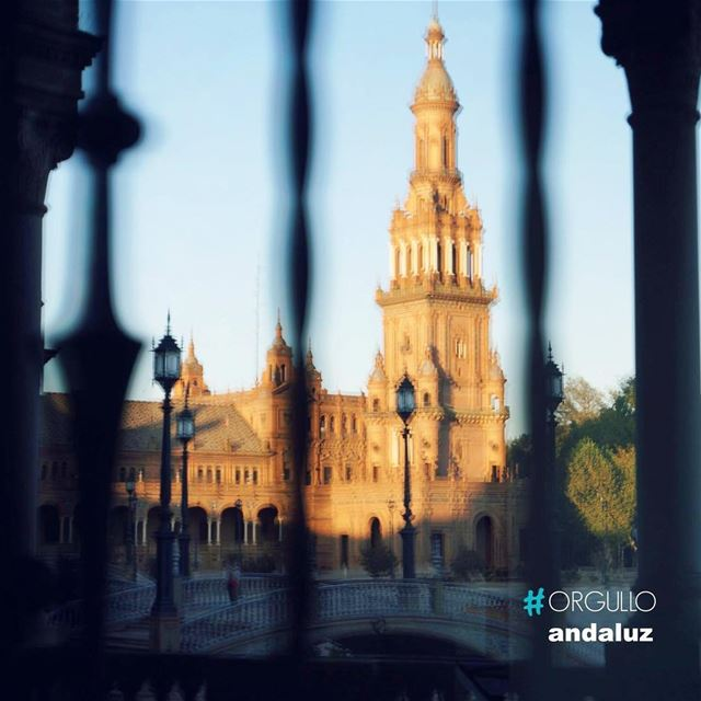 """El Orgullo Andaluz"" or ""The Andalusian Pride"" a noticeable trait among... (Plaza de España, Seville)"
