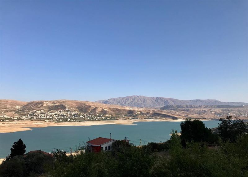 Charming view!😍  photography  photoshoot  photooftheday ... (Lake Qaraoun)
