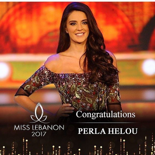 Congratulations to our  misslebanon2017  perlahelou 👑👑👑 She's gorgeous ,