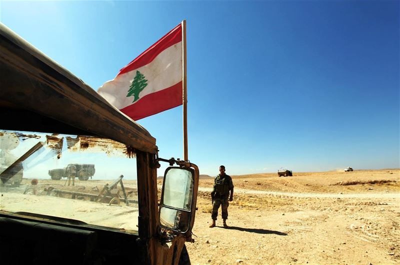 The Lebanese army stands guard at Halimah Qarra on the Syrian border as... (Baalbeck - Ras Al-Ain)