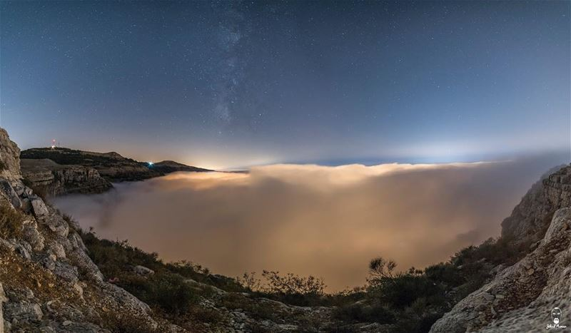 The  sea of fog; the sea of the Lebanese @livelovefalougha Mountains with... (Falougha, Mont-Liban, Lebanon)