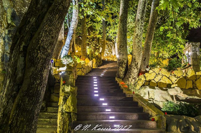 stairs  nightlifephotography  stones  mountain  ngconassignment  Lebanon ... (Baskinta, Lebanon)