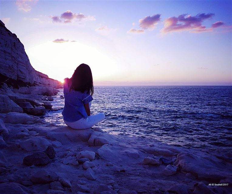 tb  southlebanon  sunset  clouds  sea  meditation  friend  summer  summer... (Naqoura)