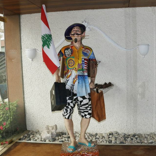 I met this guy today. Not sure if he is a  lebanese guy going to  france... (Al Bustan Hotel)
