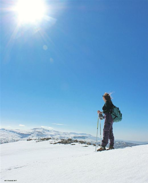 tb  winter  snow  snowshoeing  mountains  mountlebanon  sun  faraya ... (Faqra Kfardebian)