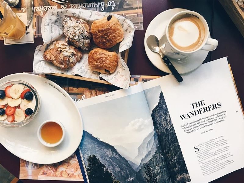 Sipping on coffee and reading about the awesome @lebanese.wanderers... (Bar Tartine Dbayé)