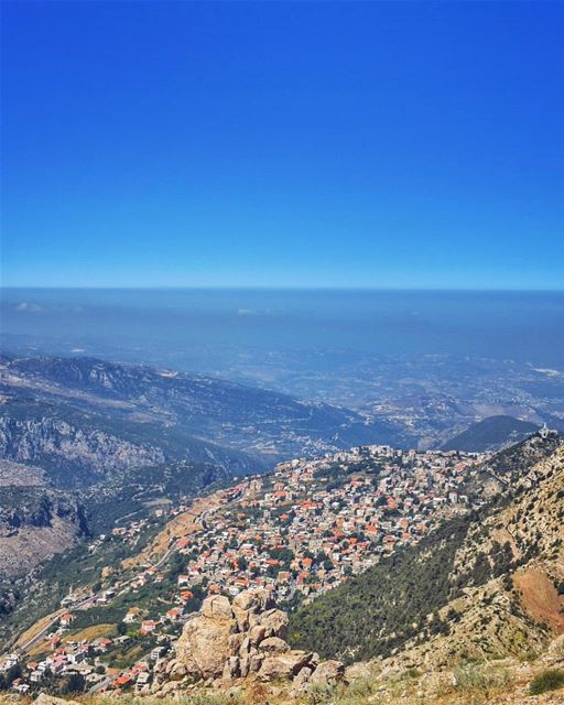 Love lifts us up where we belong Where the eagles cryOn a mountain high ... (Ehden, Lebanon)