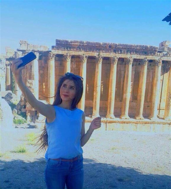 Selfie with Bacchus 😉 by Malak Khoder Baalbeck Temples Castle Proud... (Temple of Bacchus)