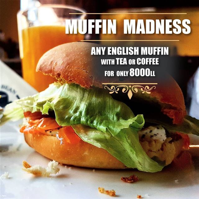 Enjoy any english muffin sandwich with a tea or coffee for only 8000....
