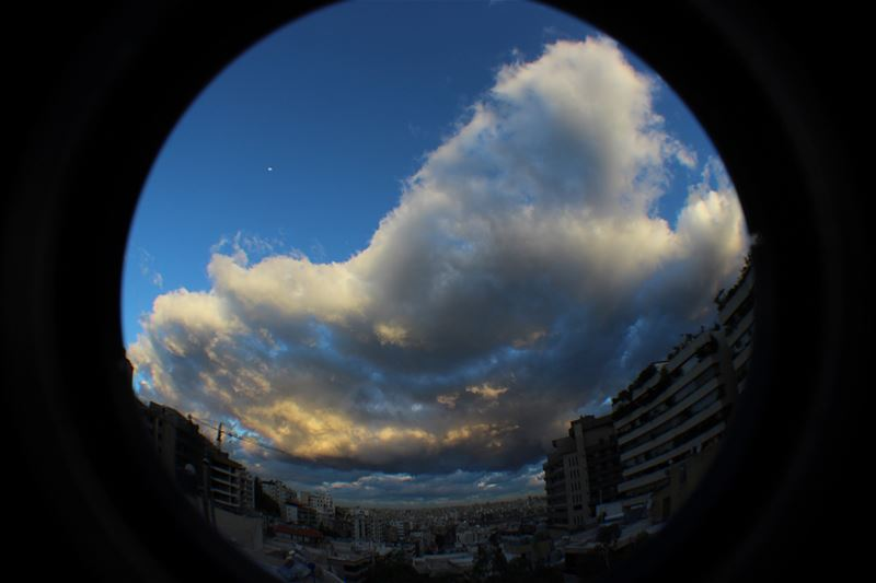 thismorning  sky  cloud  clouds  winter  automne  day  outdoor  beirut ... (Hazmieh)