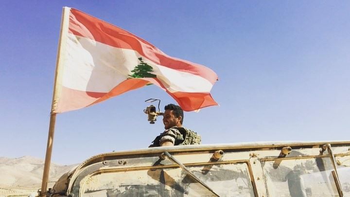 The Lebanese Armed Forces indulging in a show of national pride after... (Ras Baalbek)